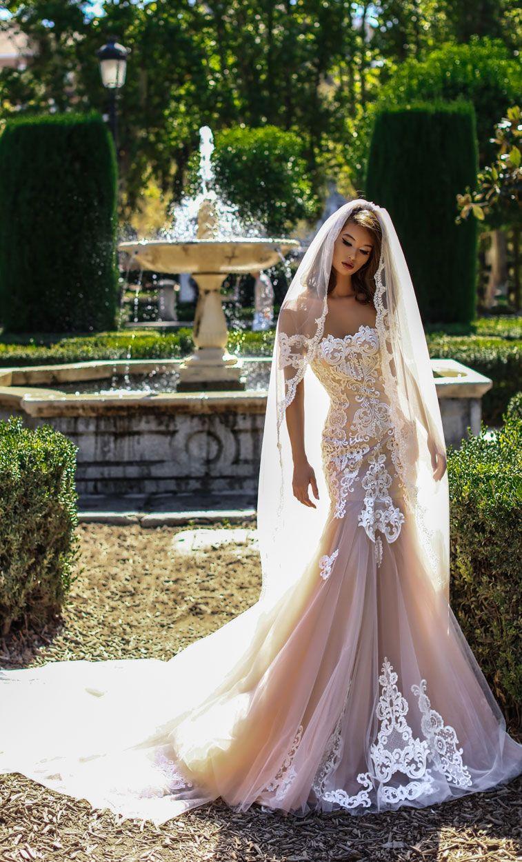 Victoria Soprano 2018 Wedding Dresses short sleeves full embellishment mermaid wedding gown chapel train #wedding #weddingdress #weddinggown #bridedress