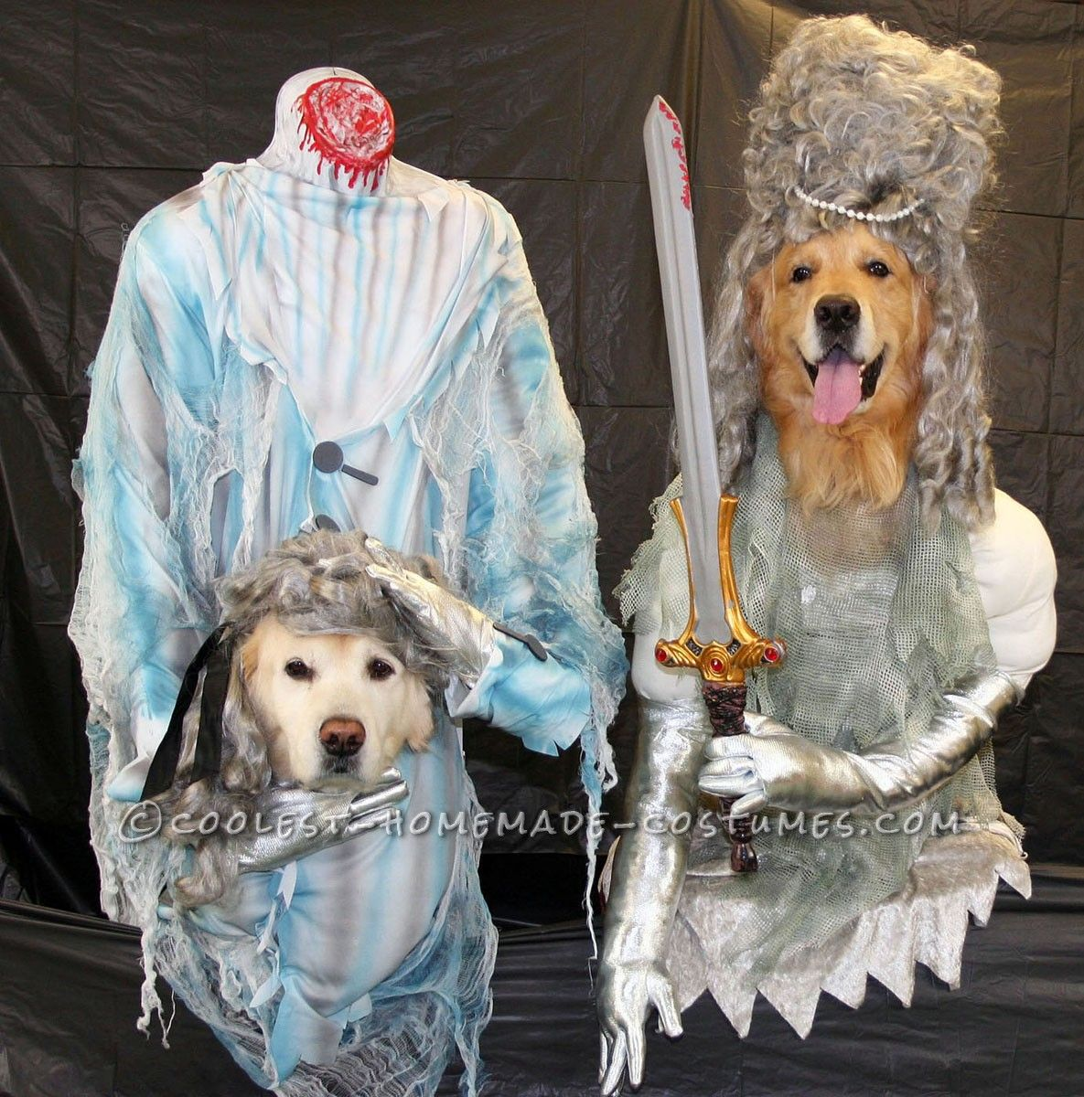 Original Dog Costumes Headless Ghosts Of The 1700 S Dog
