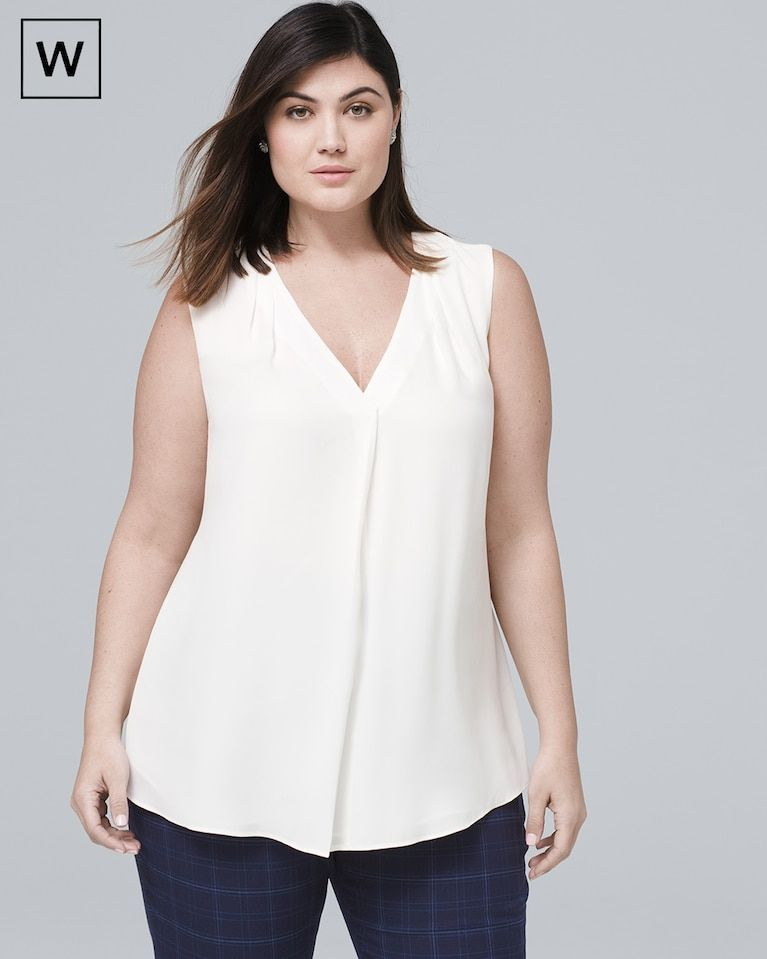 d56fa61d0f8a22 Women's Plus Single Pleat Shell Top by White House Black Market ...