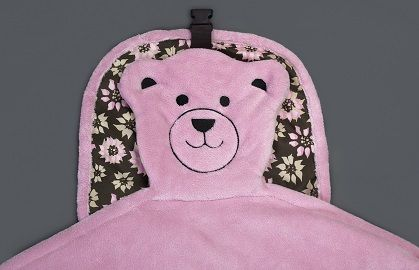 Embroidered teddy bear face  (flower)