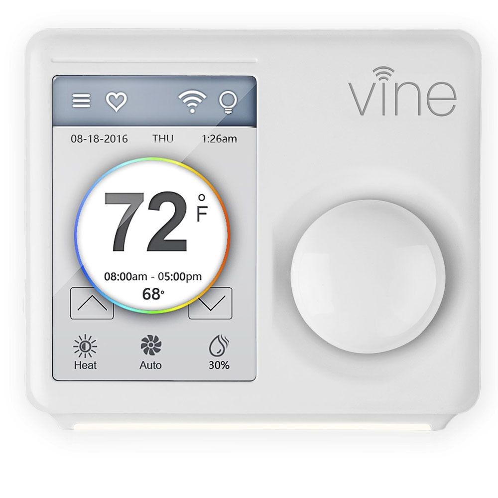 Vine Smart Wi Fi Thermostat Wtouchscreen: (31%off) Vine Wi-Fi Smart Touchscreen Programmable