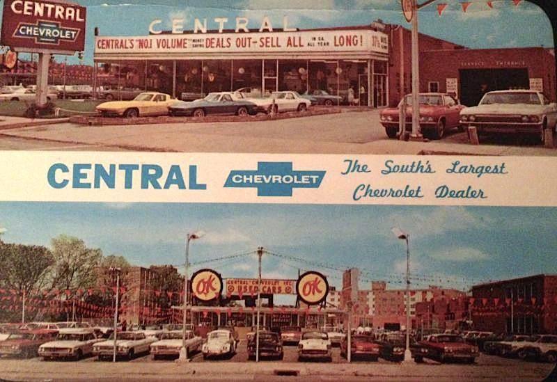 1960 S Central Chevrolet Dealership Atlanta Georgia Chevrolet Dealership Car Dealership Dealership