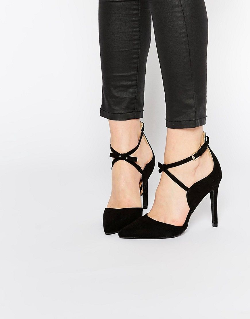 6f2205d9c138a Boohoo Pointed Cross Strap Court Shoe | Cinderella | Court shoes ...
