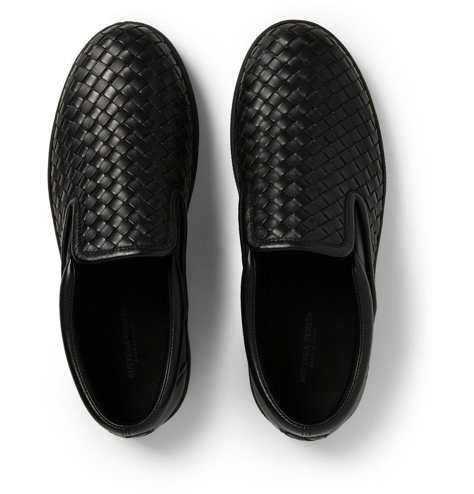 763746126a19 Bottega Veneta - Intrecciato Leather Slip-On Sneakers.
