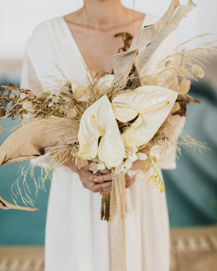 Copper and Gold French Riviera Wedding Inspiration at Château Saint Georges   Junebug Weddings is part of Wedding bouquets bride - This ethereal wedding inspiration at Château Saint Georges is straight out of a dream  Sébastien Boudot photographed the stunning details