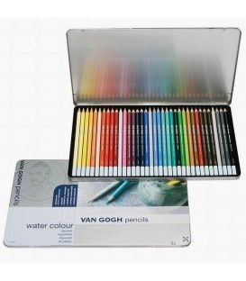 Talens Van Gogh Aquarel Pencil 36 Colour Metal Box