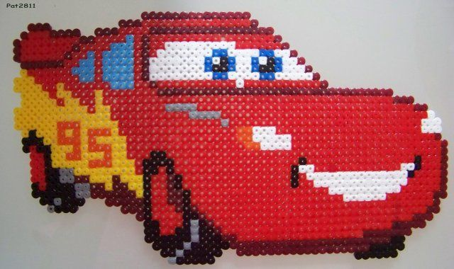 Cars Flash Mcqueen Perles Hama Perles à Tisser Et Perles