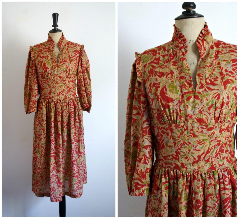 Vintage 50s-60s Midi Day Dress / Small Size de la boutique CeliaVintageStars sur Etsy