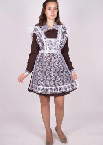 6b5dbd713cb Школьное платье для старшеклассниц (50 фото)  фасоны и модели ...