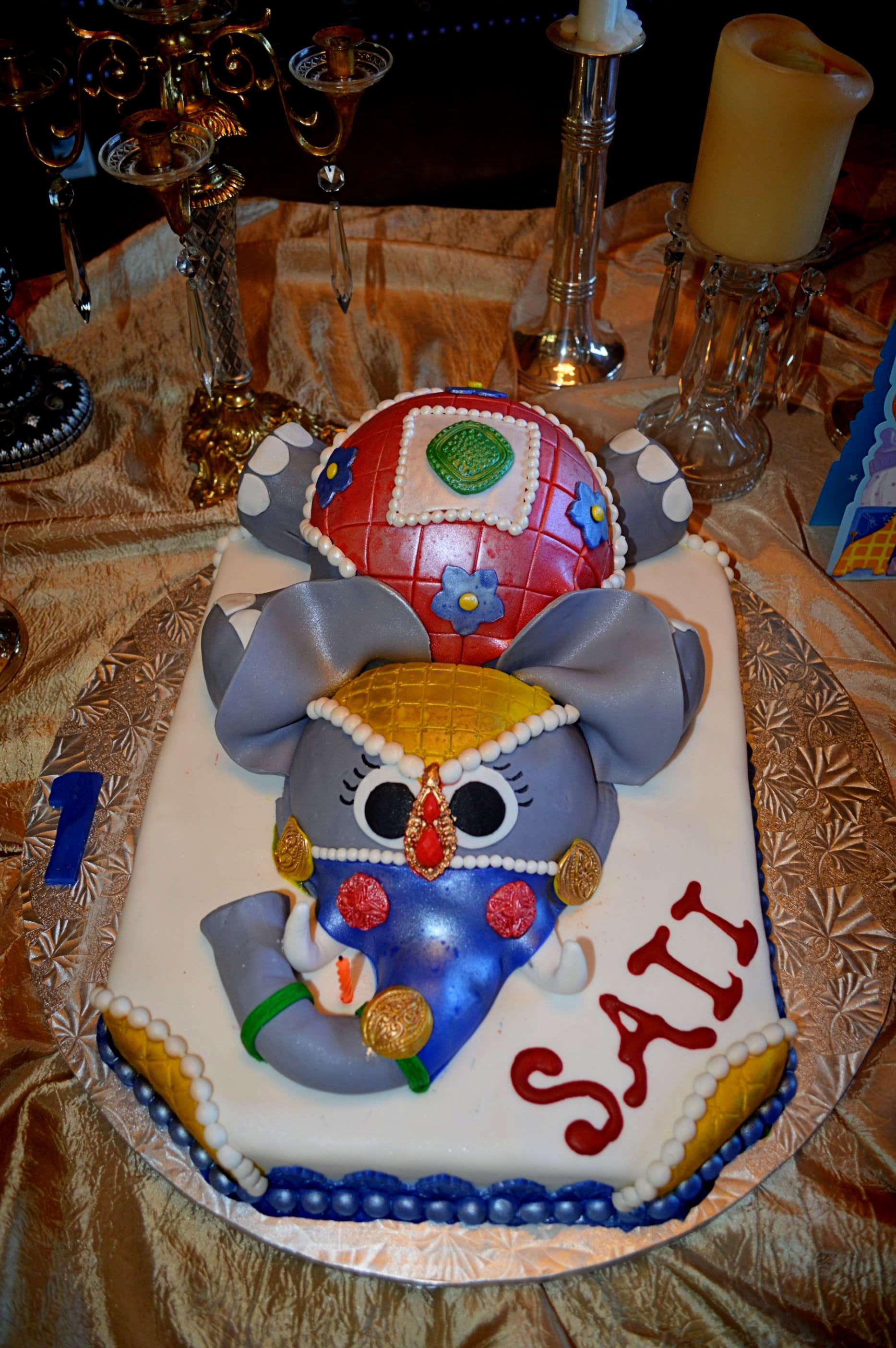 Maharaja India Elephant Cake Birthday Party Theme Kids