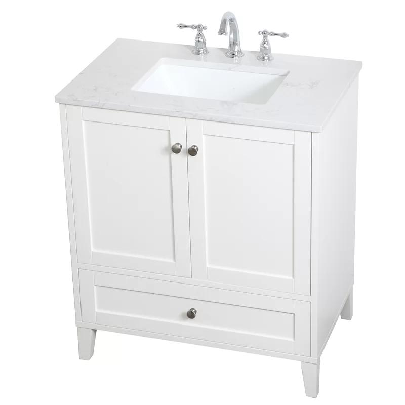 Highland Dunes Goodell 30 Single Bathroom Vanity Set Wayfair Single Bathroom Vanity Double Vanity Bathroom Bathroom Vanity