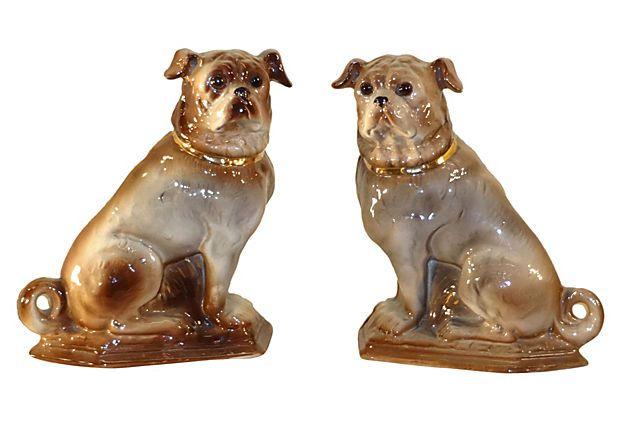 19th C Staffordshire Pugs Pugs Vintage Dog Pug Love