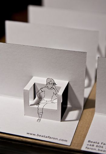 Business Card By Beata Faron This Gives Me A Great Idea To Make Pop Up