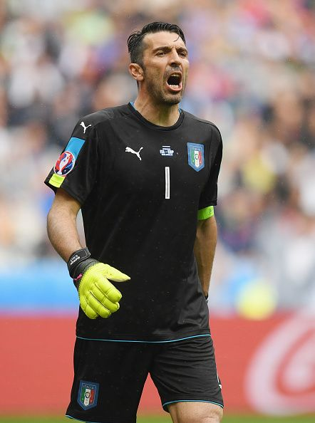 #EURO2016 Gianluigi Buffon of Italy shouts during the UEFA EURO 2016 round of 16 match between Italy and Spain at Stade de France on June 27 2016 in Paris...