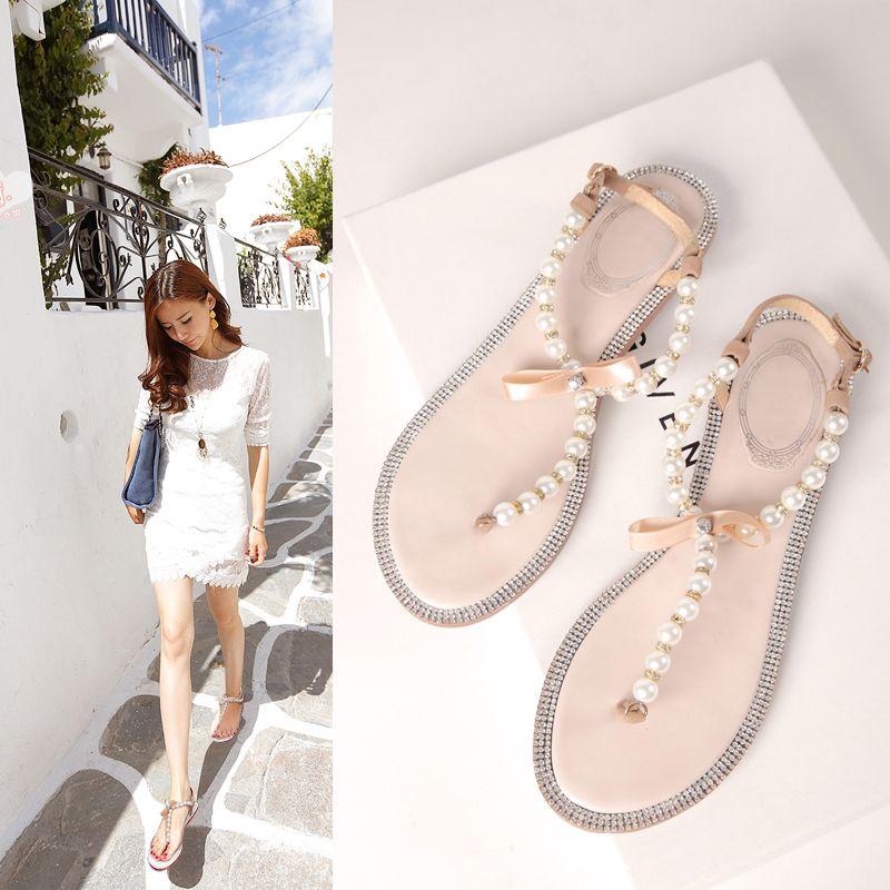 76f45996c52 Bow women s flip-flop - http   nklinks.com product 2014-bow-women-s-flip- flop-shoes-rc-t-flip-flops-rhinestone-pearl-sandals-female-flat-women-s- shoes