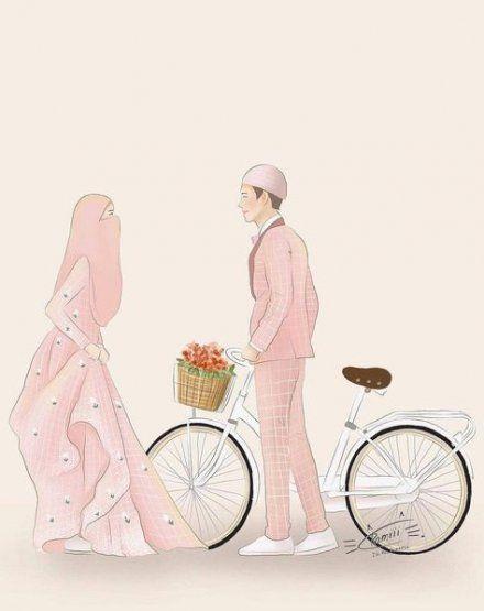 34 Trendy Wedding Couple Cartoon Muslim