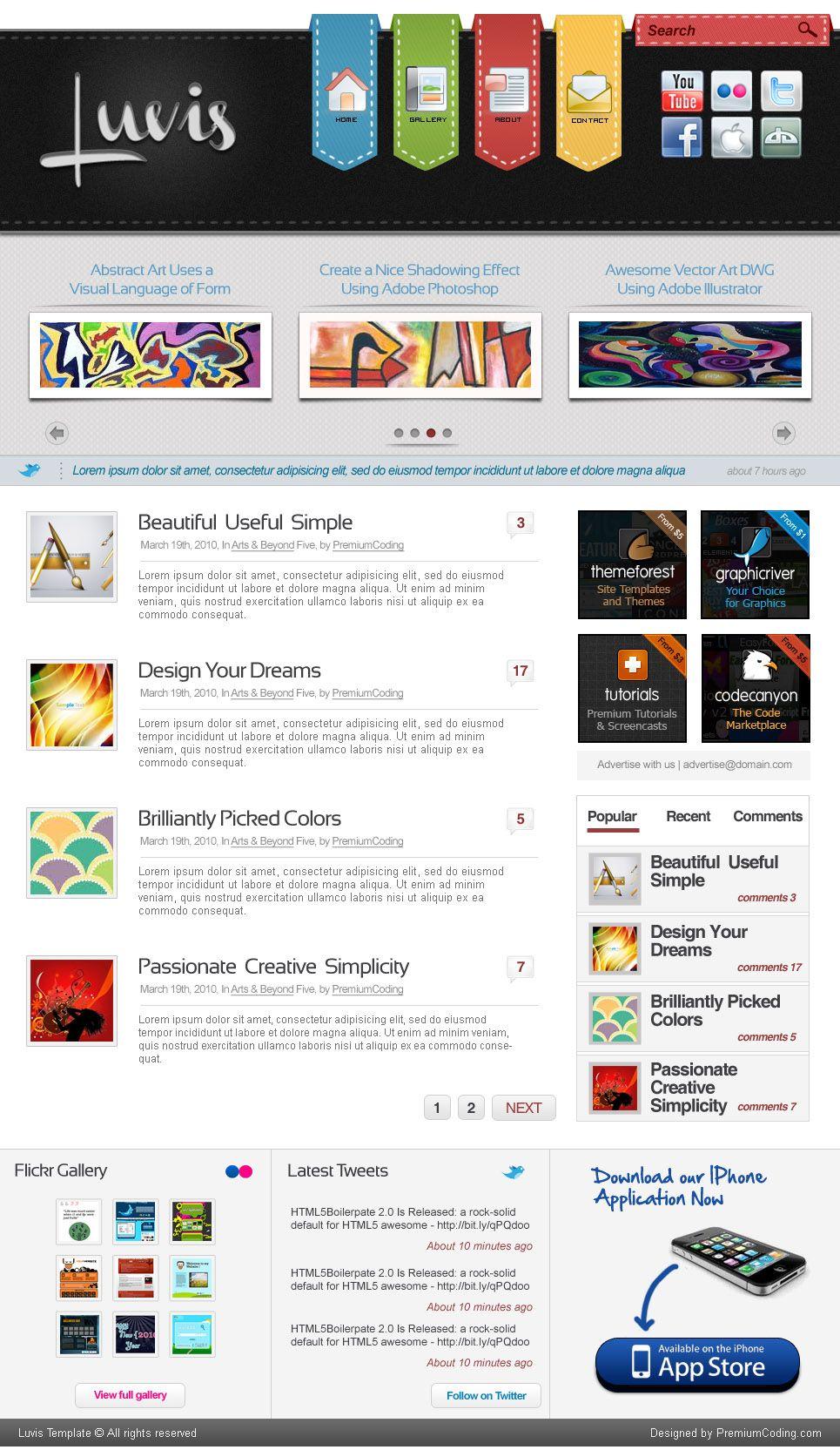 luvis website template psd webz pinterest website template