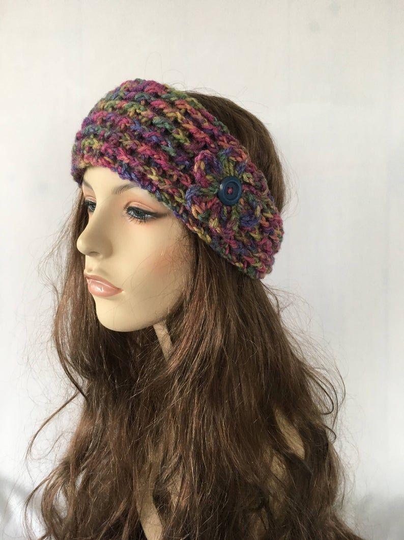 Handmade Crochet Ear Warmer Headband Ready to ship same day