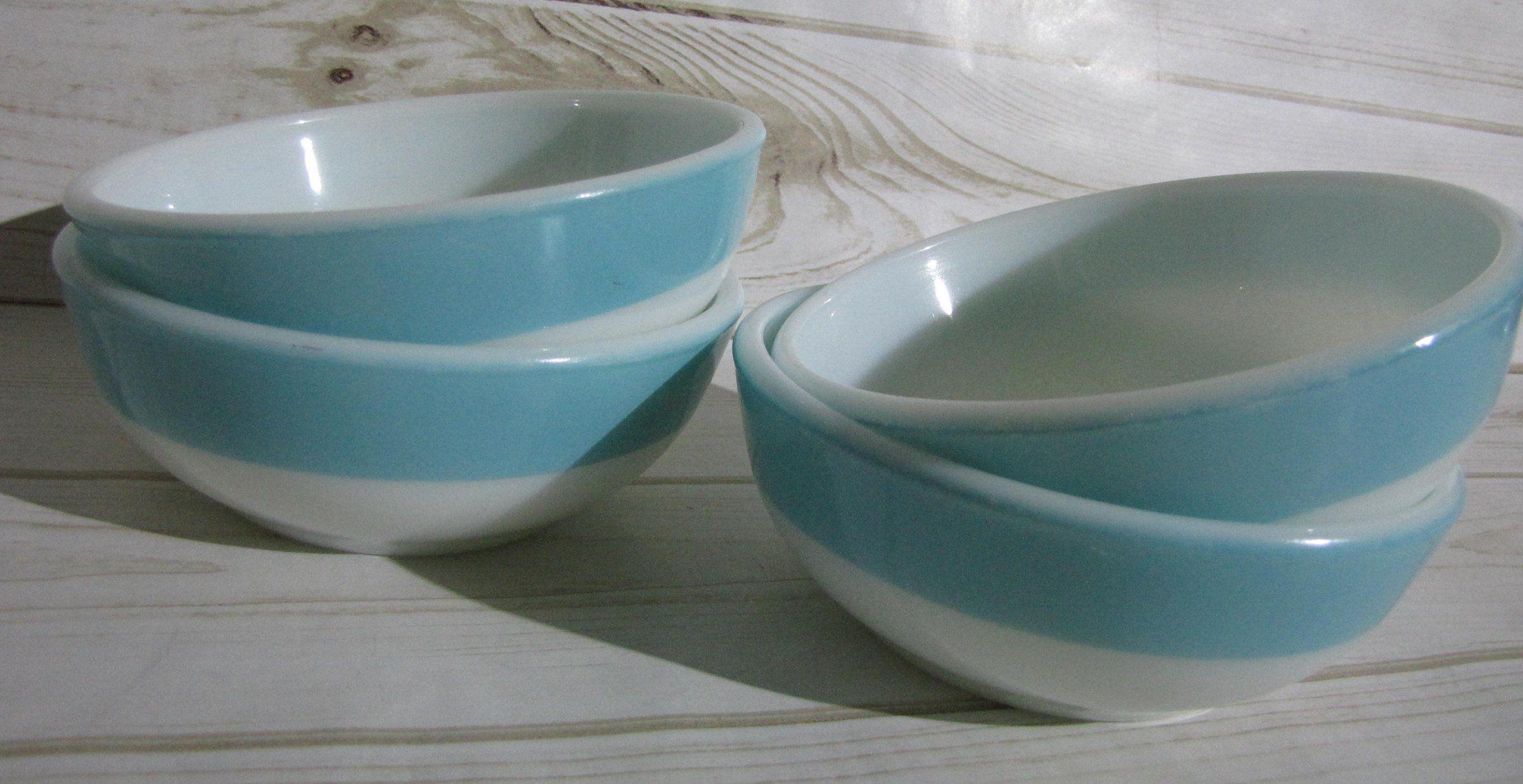 Pyrex Family Flair Sea Isle Blue Aqua Turquoise Bowl Cereal Bowl
