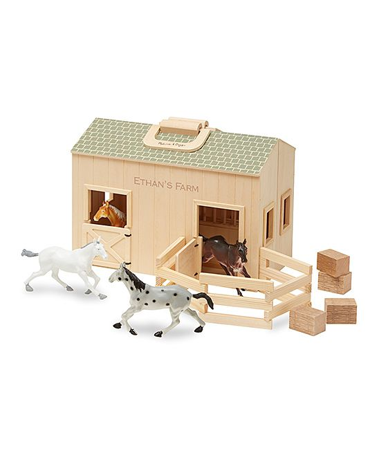 Melissa Doug Personalized Fold Go Stable Playset Products