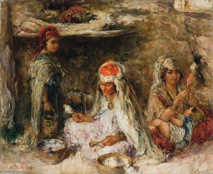 Afficher l 39 image d 39 origine alphonse etienne dinet and for Peinture satinee algerie prix