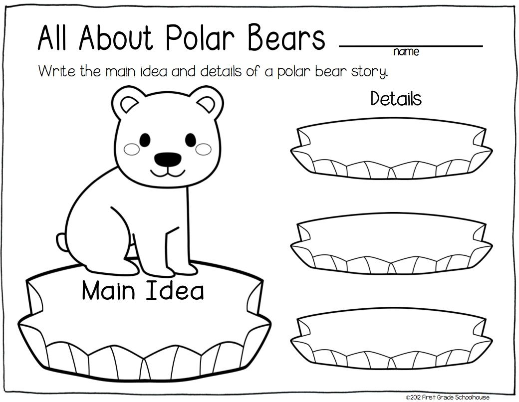 All About Polar Bears Graphic Organizer Winter Themed
