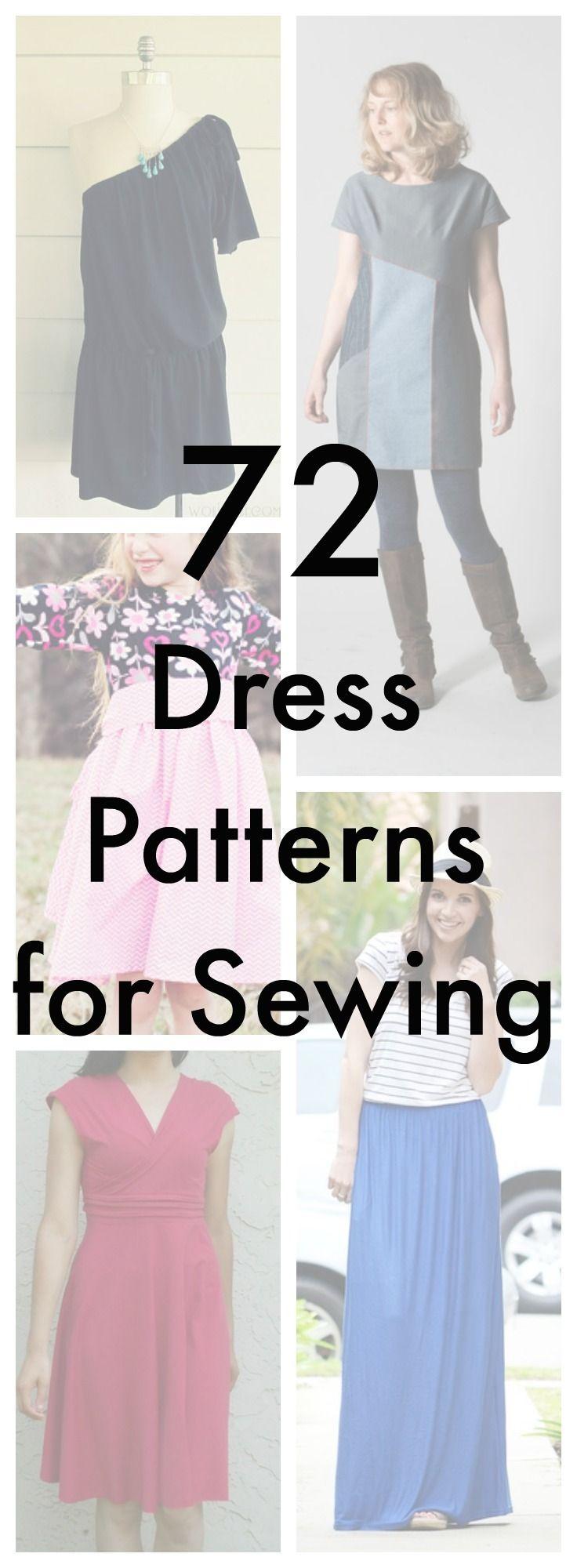 75+ Free Dress Patterns for Sewing | Patrones de vestidos, Patrones ...
