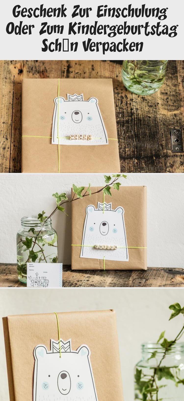 Geschenke für Kinder schön verpacken. Mit Freebie, Gratis