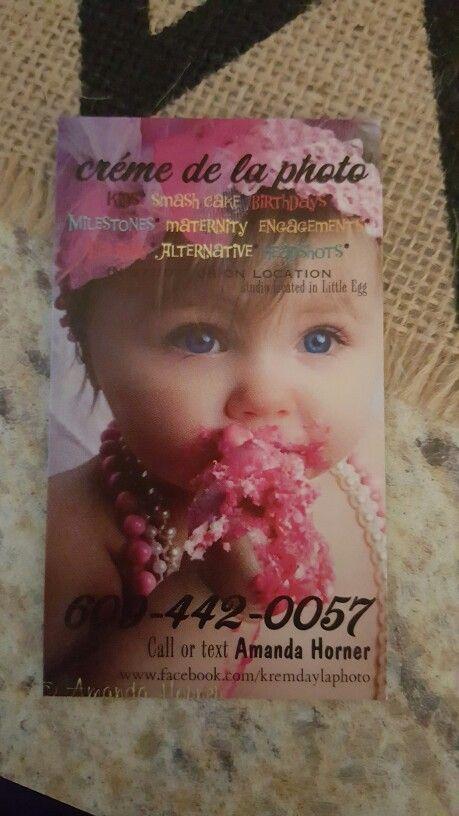 One side of my business card #smashcake #femfatphoto #cremedelaphoto Image belongs to Amanda Horner of créme de la photo 624 Rt. 9 Little Egg Harbor, NJ 08087