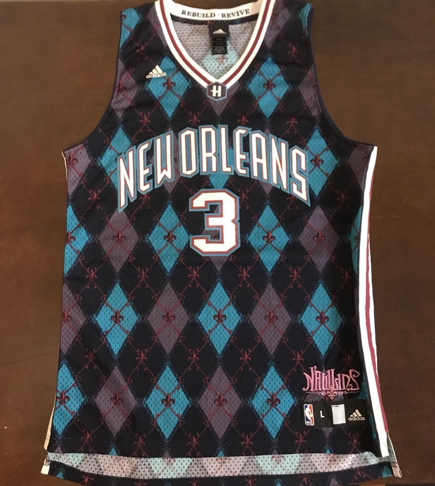 Rare Vintage Adidas NBA New Orleans Hornets Chris Paul Katrina Nawlins  Jersey  adidas  NewOrleansHornets d2644977b