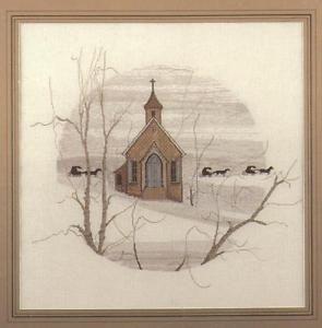 cross stitch country church - Google Search