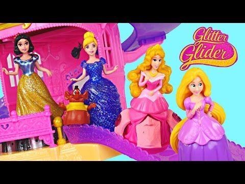 Princess Glitter Castle Gliders Disney Princesses Magiclip Toys Cinderella Snow…