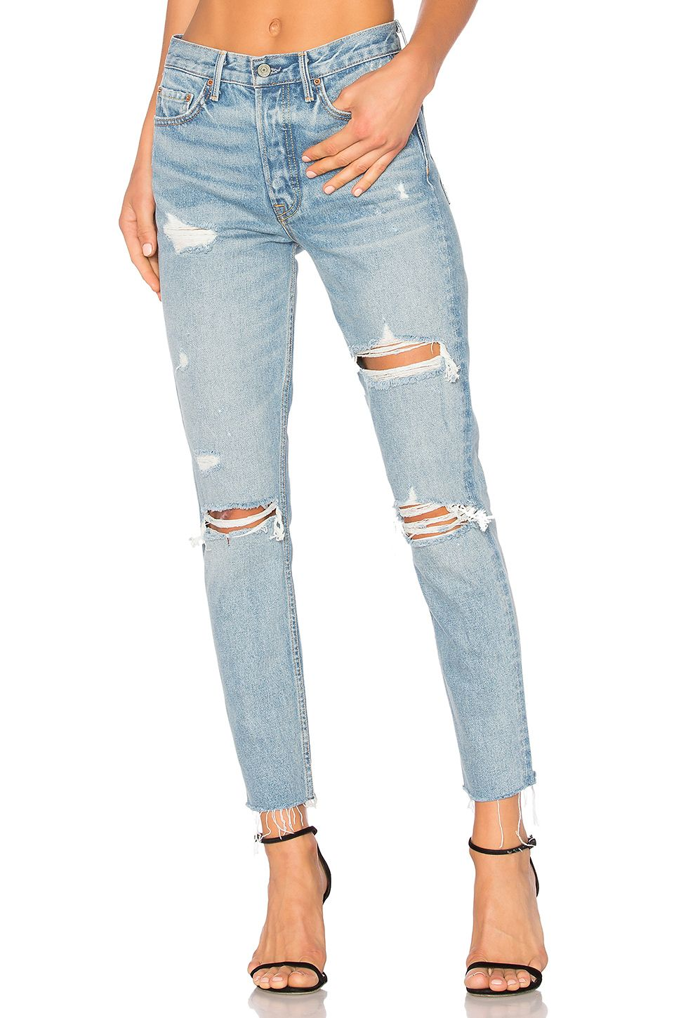 distressed jeans - Blue GRLFRND Sale Limited Edition Real Cheap Online Big Sale Sale Online Best Store To Get For Sale Cheap Fashion Style AGCRm1Hou