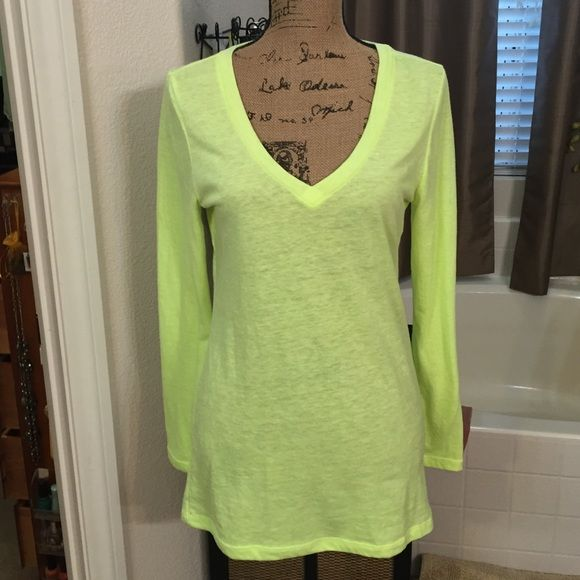 Old Navy NWOT Neon Yellow. Long Sleeved Lightweight longsleeved T-shirt. Says Medium but fits like a large. Old Navy Tops Tees - Long Sleeve