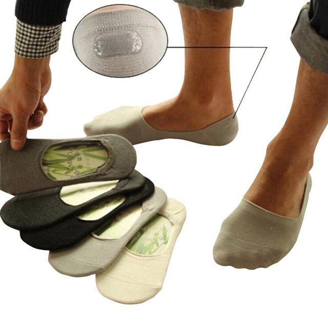 Deslizadores Del Calcetín De Fibra De Bambú De Los Hombres De Silicona Antideslizante Calcetines Del Estilos Casuales De Verano Calcetines Calcetines De Hombre