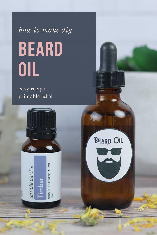 Beard oil for men recipe free printable label in 2020