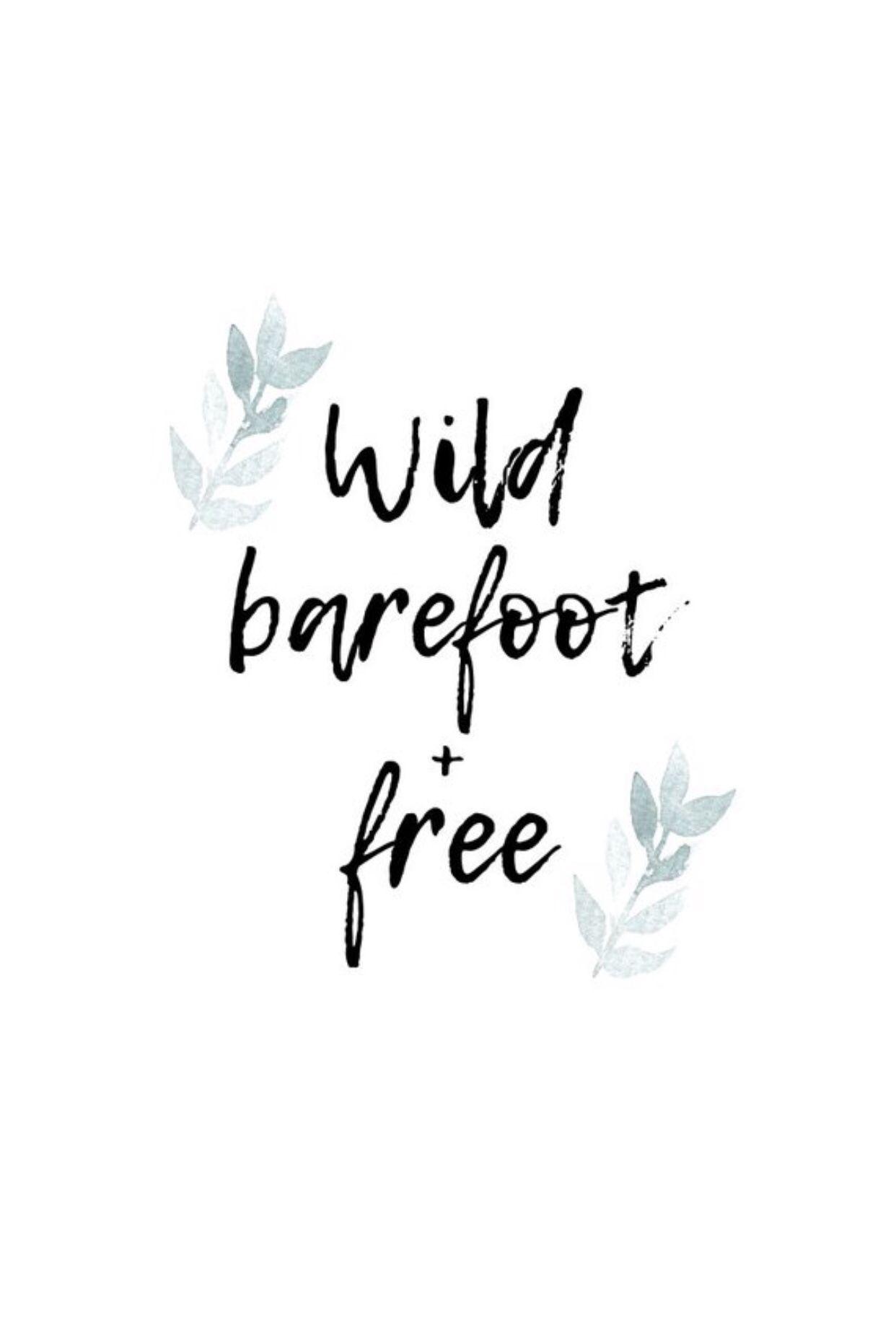 Printable Wall Decor Wild Barefoot Free Etsy Boho Quotes Wall Decor Printables Wall Printables