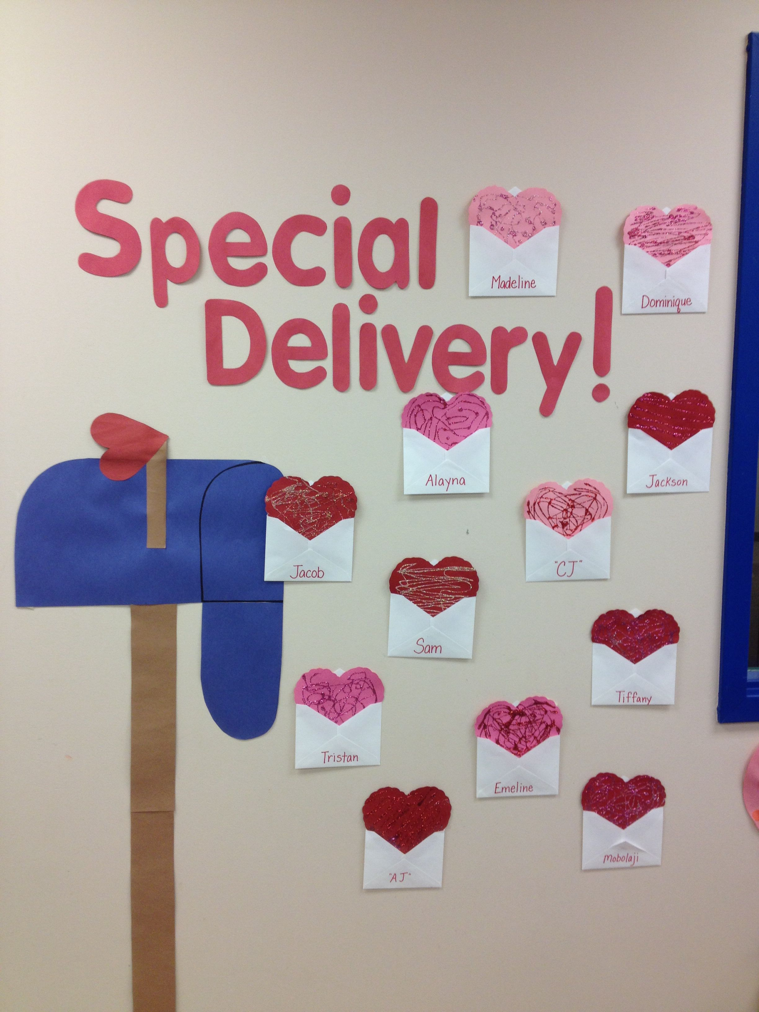Decorating the classroom wall for Valentines | Classroom ...