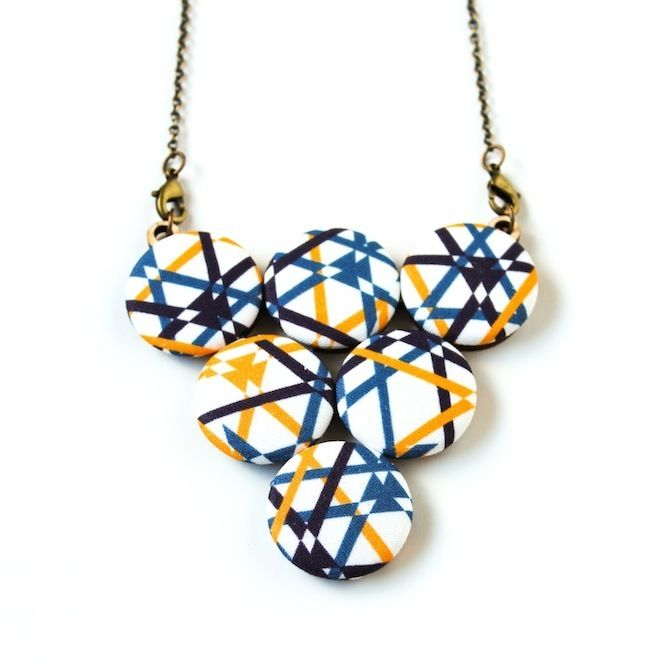 handmade jewelry seattle primary pop geometric lines statement necklace handmade 5396