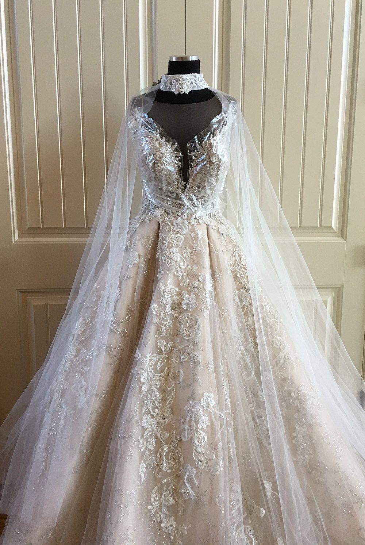 Milla Nova Cape Kaila and Karen dress Bridal lace