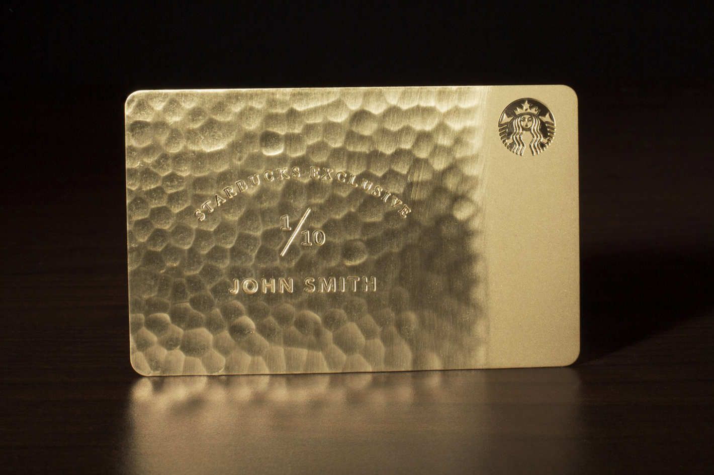 Starbucks Gold Card Credit Card Design Starbucks Gold Card Gold Credit Card