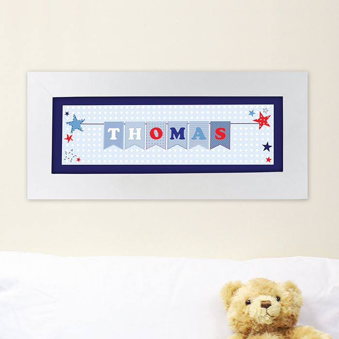 Star bunting name frame personalised kids gifts pinterest star bunting name frame name framekids giftsbaby negle Images
