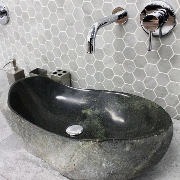 Natural Rock Stone Large Solid Stone Irregular Countertop Vanity - Bathroom supplies on line