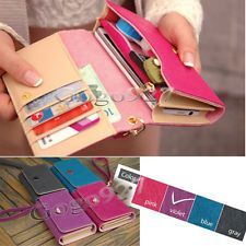Wallet Leather Purse Case Cover Envelope Card For Samsung Galaxy S2 S3 Iphone 4S11