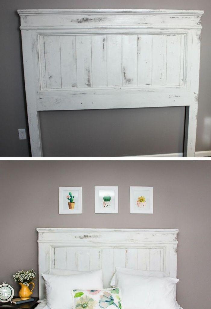 1001 id es pour fabriquer une t te de lit en bois originale diy home decor diy home decor. Black Bedroom Furniture Sets. Home Design Ideas