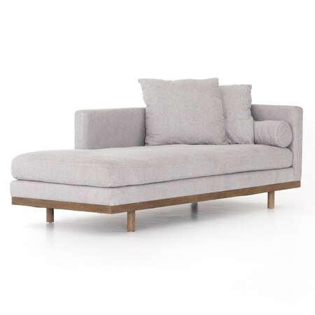 Brady Light Grey Single Chaise Lounge 85 Chaise Lounge Living Room Chaise Lounge Modern Chaise Lounge