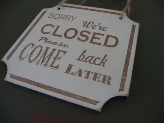 Open Closed Shop Sing Double Sided Shop Door Sign Shabby by Crafu