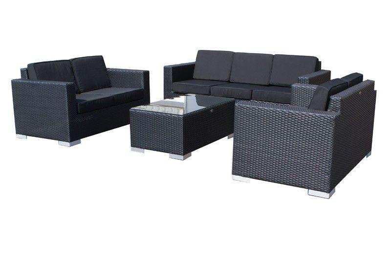 SVG Outdoor loungeset Parijs zwart I Serie VI aanbieding!