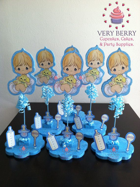 Precious Moments Baby Boy Glitter Centerpieces By Of Para