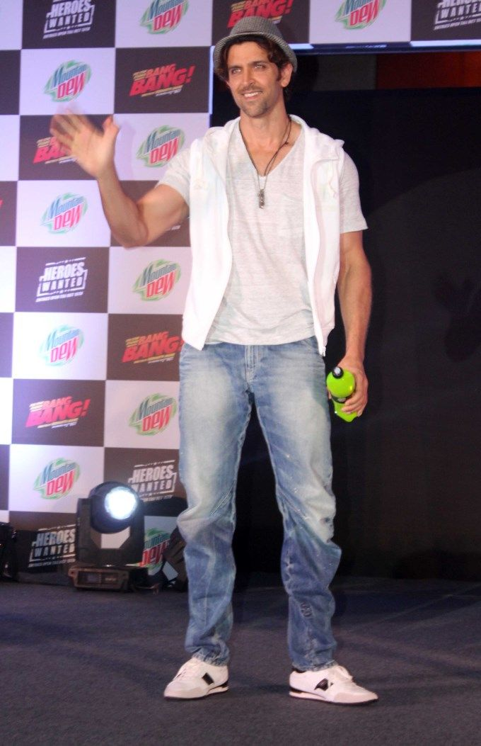 Hrithik Roshan at the launch of Mountain Dew's Heroes Wanted Campaign.